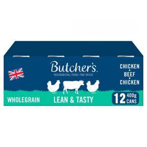Butchers Lean and Tasty Dog Food Tins 12X400g