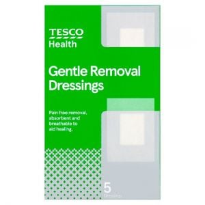Tesco Health Gentle Removal Dressing 5 Pack