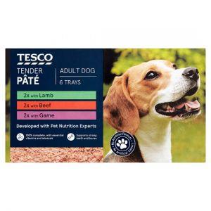 Tesco Dog Tender Pate 6 X 150g