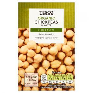 Tesco Organic Chick Peas In Water 380g