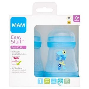 Mam Anti Colic Bottle 0+ Months 160ml X2
