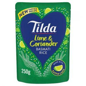 Tilda Lime and Coriander Steamed Basmati Rice 250g