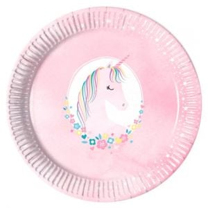 Tesco Unicorn Plate 8Pk