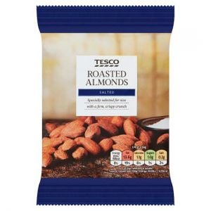 Tesco Roasted and Salted Almonds 100g