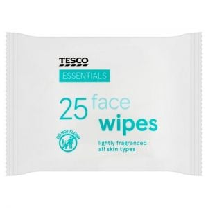Tesco Essentials Face Wipes 25 Pack