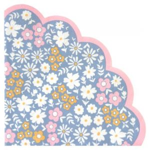 Ditsy Floral Scallop Napkin 33Cm 20 Pack