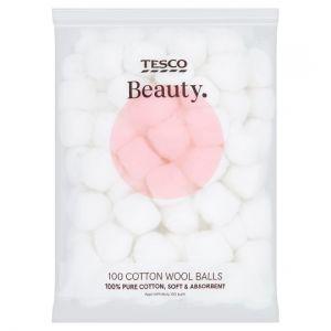 Tesco Beauty Cotton Wool Balls 100 Pack