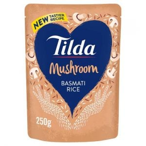 Tilda Mushroom Steamed Basmati Rice 250g