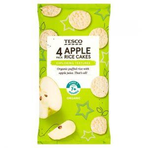 Tesco Apple Rice Cakes 4 X 20g
