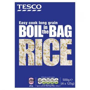 Tesco Easy Cook Boil In Bag Rice 4 X 125g