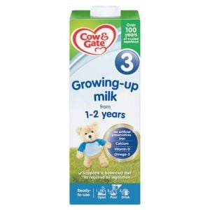Cow and Gate 3 Growing Up Milk 1+ Years 1Ltr Ready To Feed