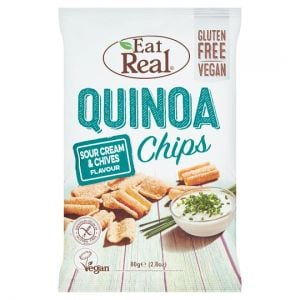 Eat Real Quinoa Chips Sour Cream & Chive 80g