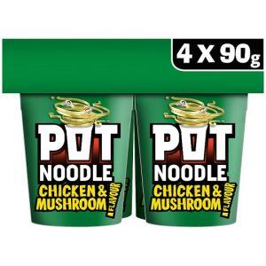 Pot Noodle Chicken & Mushroom 4 X 90g
