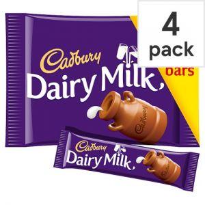 Cadbury Dairy Milk Chocolate Multipack 4 X36g