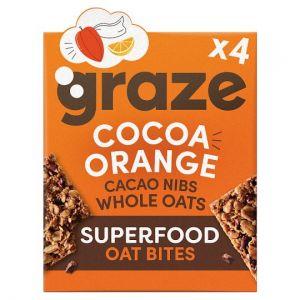Graze Cacao and Orange Super Bites 4X30