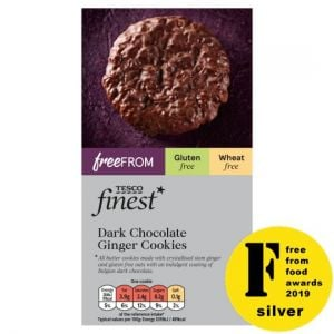 Tesco Finest Free From Dark Chocolate Ginger Cookies 150g