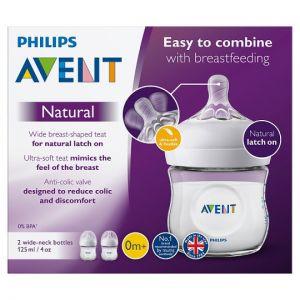 Philips Avent Natural 2.0 2 Pack Bottle 125ml/4Oz