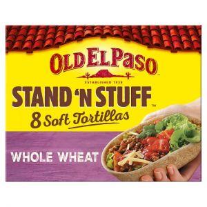 Old El Paso Soft Stand & Stuff Whole Wheat Tortillas 8Pk 193g
