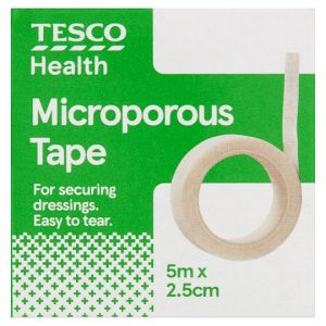 Tesco Microporous Tape 5Mx2.5Cm