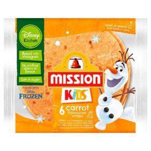 Mission Kids Disney 6 Carrot Flavoured Wraps 186g