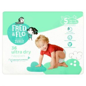 Fred and Flo Ultra Dry Size 5+ Nappies Economy Pack 36