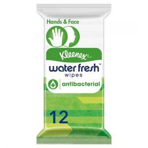 Kleenex 12 Water Fresh Antibacterial Wet Wipes