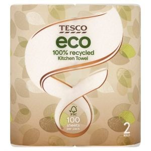 Tesco Eco Kitchen Roll 2 Roll