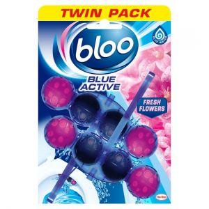 Bloo Blue Activ Fresh Flowers Rim Block 2X50g