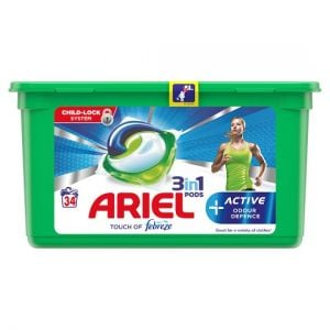 Ariel 3In1 Pods Active Odour Defence 34 Wash