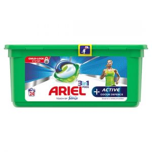 Ariel 3In1 Pods Active Odour Defence 24 Wash