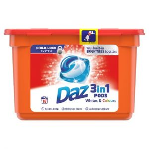 Daz 3In1 Pods Whites & Colours 18 Washes