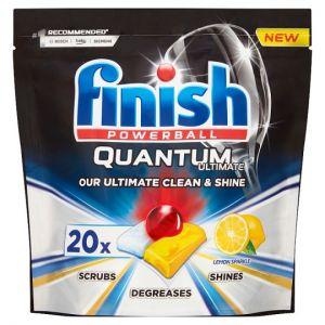 Finish Quantum Ultimate Lemon 20 Dishwasher Tablets