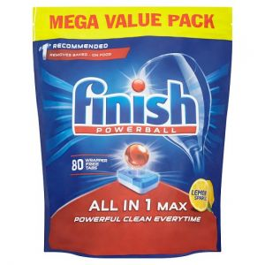 Finish All In One Max Lemon 80 Dishwasher Tablets