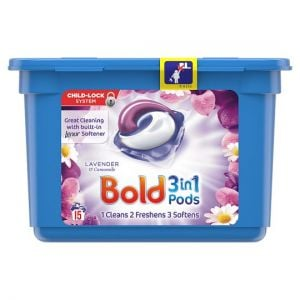 Bold 3In1 Washing Capsules Lavender & Camomile 15 Washes