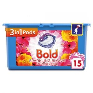 Bold 3In1 Washing Capsules Bloom & Yellow Poppy 15 Washes