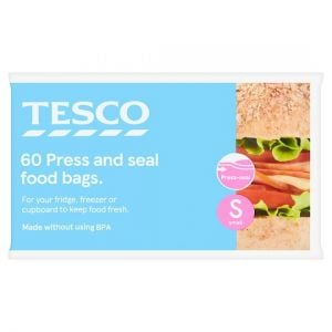 Tesco Press Seal Bags 60Pk