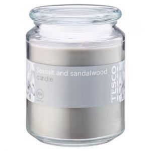 Tesco Sea Salt and Sandalwood 20Oz Candle Jar