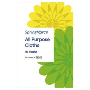 Springforce All Purpose Cloths 10 Pack