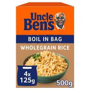 Uncle Bens Boil In Bag Wholegrain Rice 4X125g