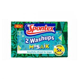 Spontex Washups Mosaik Scourer 2 Pack