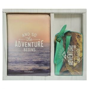 Travel Passport Holder and Luggage Tag