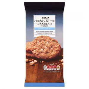 Tesco Chunky White Chocolate Cookies 200g