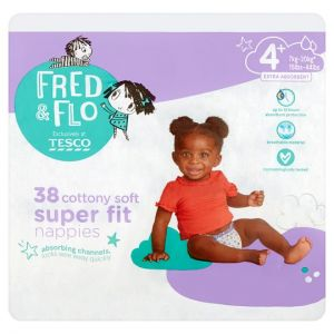 Fred & Flo Super Fit Size 4 Plus Nappies 38 Pack