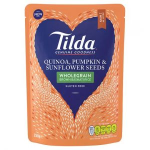 Tilda Sunflower and Pumpkin Seeds Steamed Basmati Rice 250g