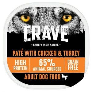 Crave Dog Food High Protein Chicken and Turkey 300g