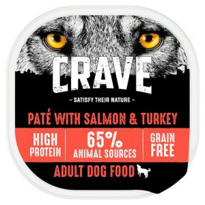 Crave Dog Food High Protein Turkey and Salmon Pate 300g