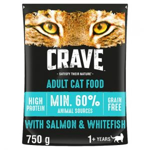 Crave High Protein Dry Cat Food Salmon & Fish 750g
