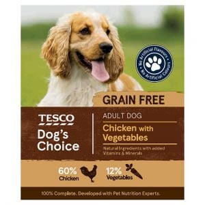 Tesco Chicken With Vegetables Dog Food Tray 400g