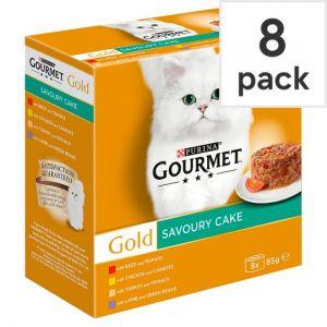 Gourmet Gold Savoury Cake Meat 8X85g