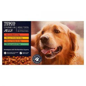 Tesco Dog Pouch 40X100g